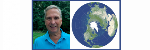 Bob Vanderbei and photo of the map